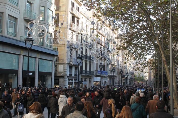 Calle comercial en el centro de la ciudad. Imagen: Ayuntamiento de Barcelona