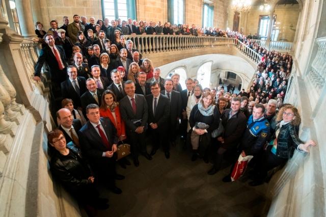 Foto conmemorativa de los diez años del SICTED en las comarcas de Barcelona.