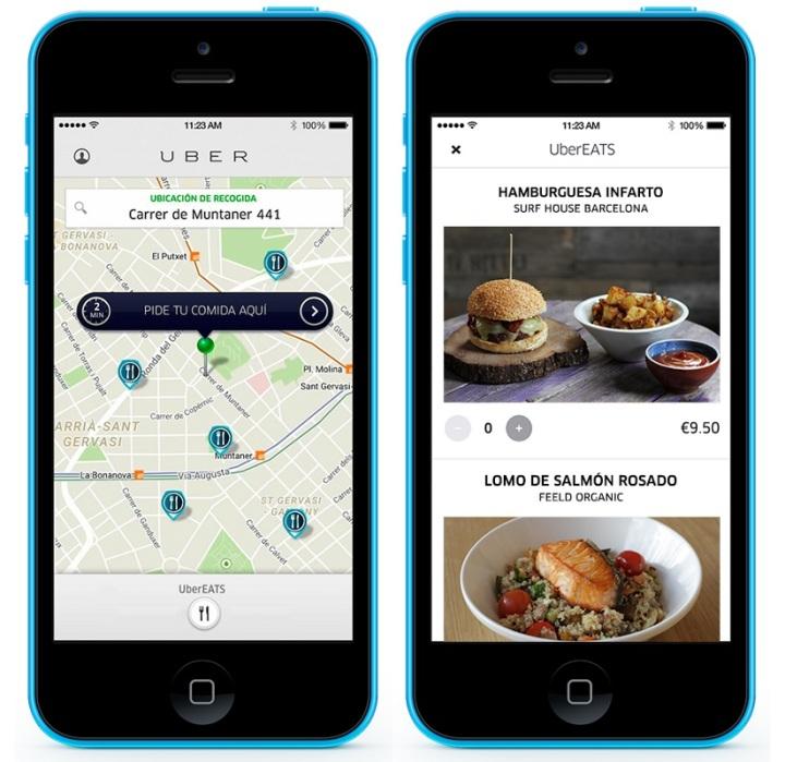 La nueva aplicación de Uber lanzada en Barcelona.