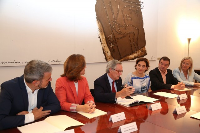 Reunión de los grupos políticos del Ayuntamiento de Barcelona.