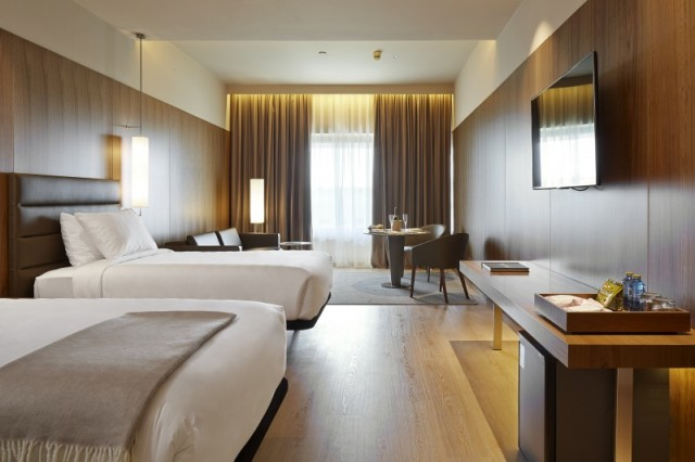 Una de las habitaciones del hotel Diagonal L'Illa