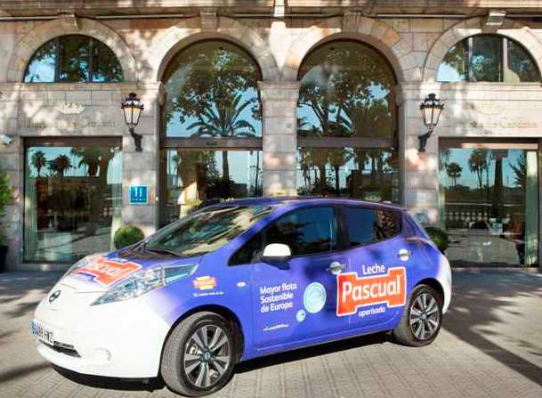 Uno de los vehículos eléctricos que comenzarán a surtir a hoteles de Barcelona.