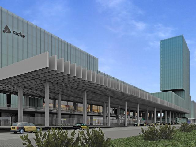 Imagen virtual que muestra cómo será la futura estación de La Sagrera.