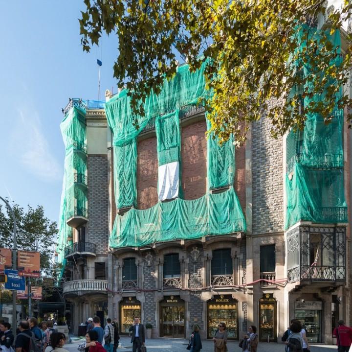 El edificio que albergará el futuro hotel, donde se están llevando a cabo diversas obras.