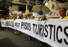 protesta contra pisos turísticos en barcelona