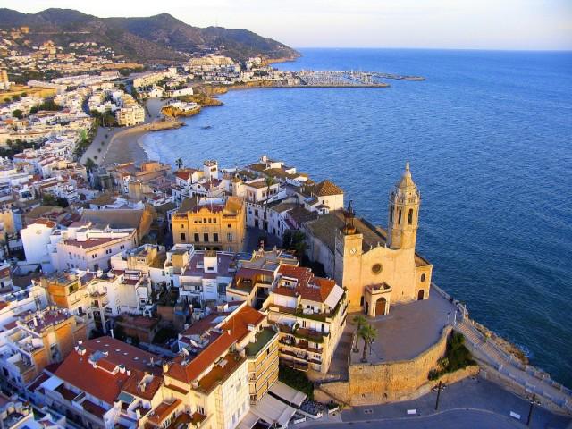 Una vista de Sitges, situada a 40 KM al sur de Barcelona