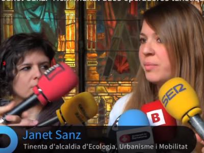 Janet Sanz, teniente de alcalde de Ecología, Urbanismo y Movilidad del Ayuntamiento de Barcelona.