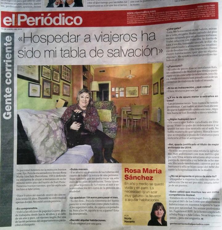 entrevista anfitriona airbnb barcelona