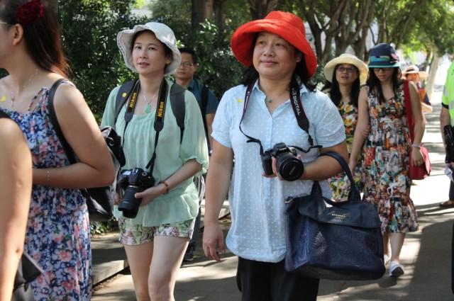 Un grupo de turistas en Barcelona. Foto: Ayuntamiento de Barcelona